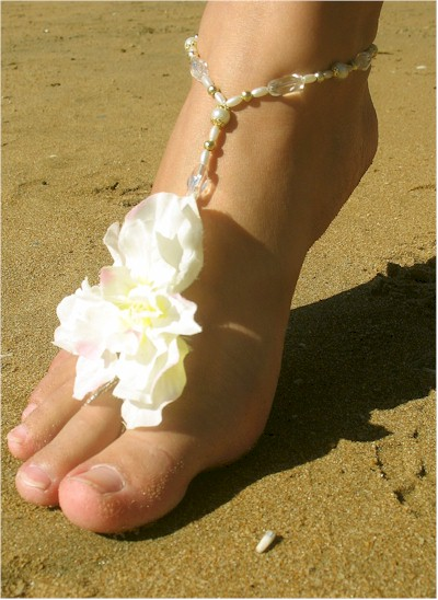Beach Wedding Barefoot Sandals Price 3200 at etsycom